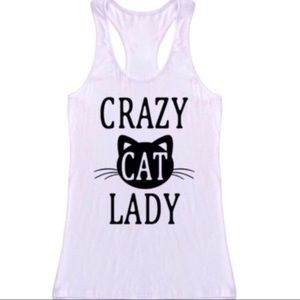 Tops - Crazy Cat Lady Tank